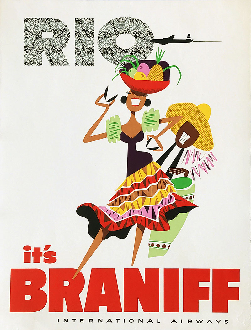 Image: Rio - Braniff International Airways - Travel poster - WG00761