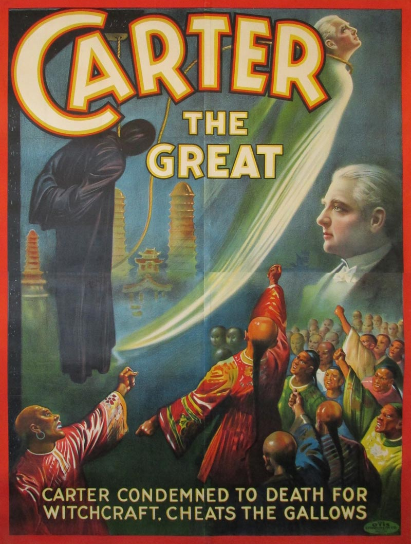 Image of Cater the Great - Cheats the gallows - vintage magic poster - WG00786