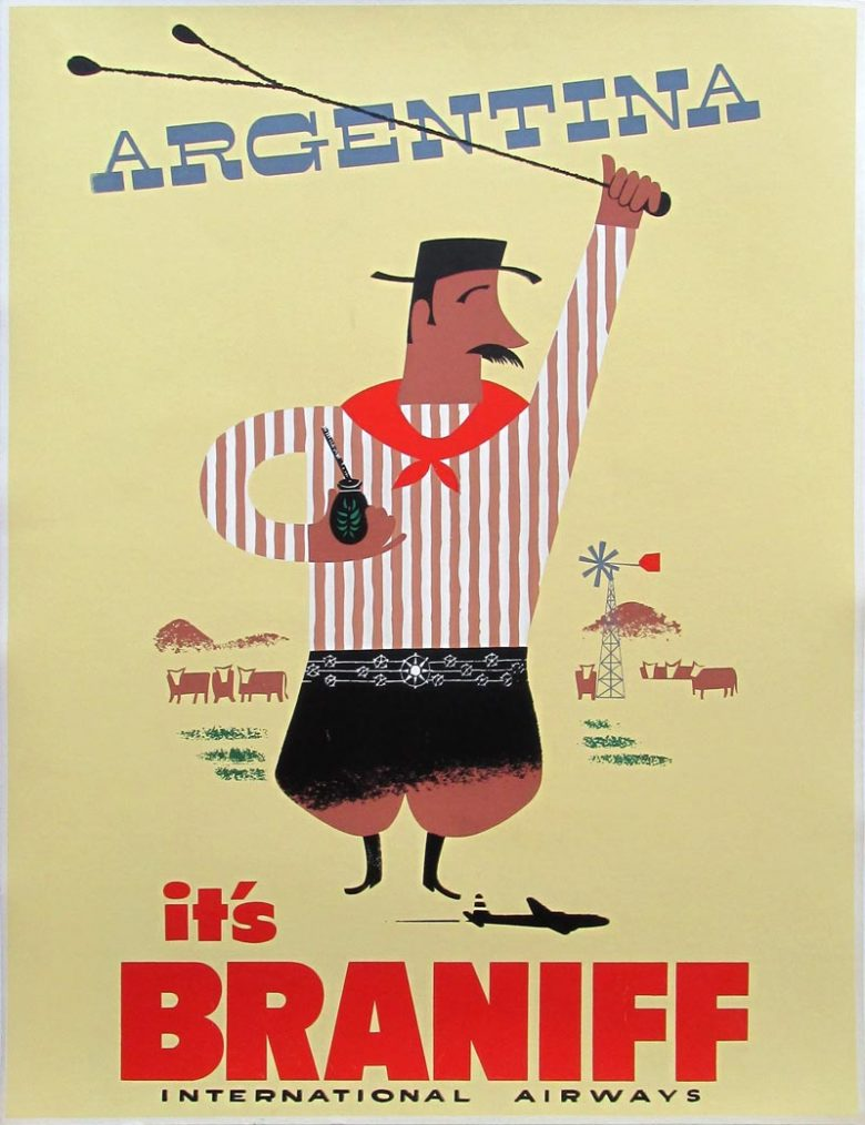 Image of Argentina - Braniff International Airways - Travel Poster - WG00759