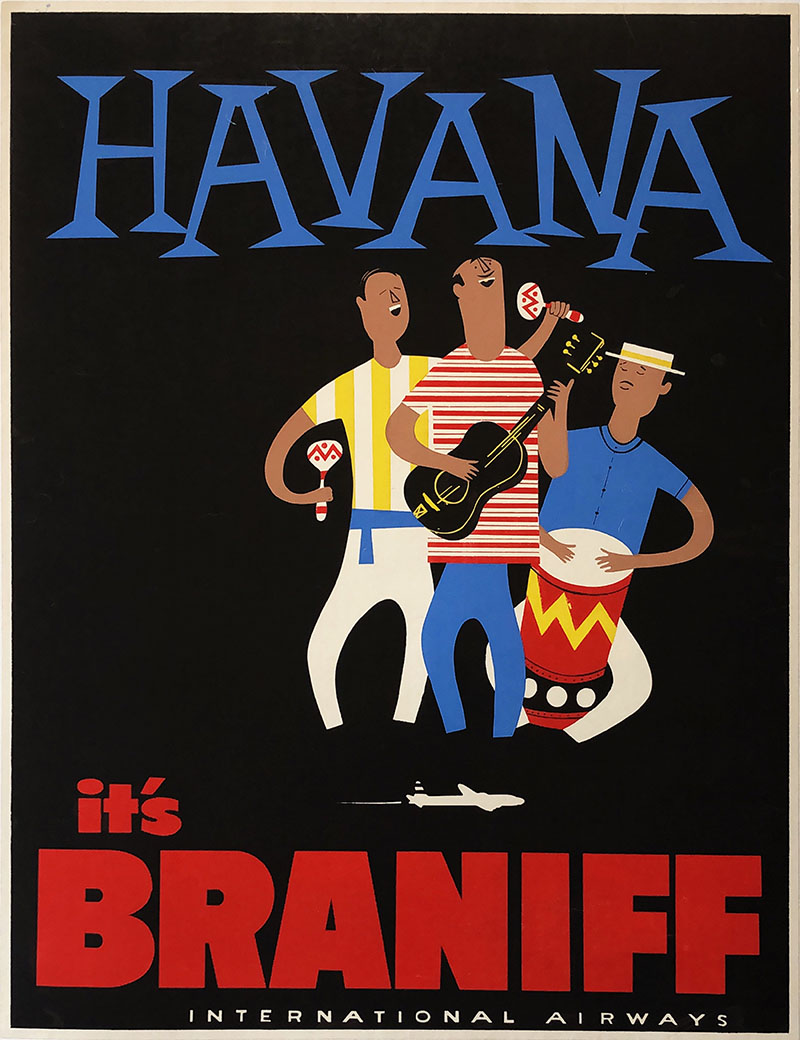 Image o fHavana - Braniff International Airways - Travel Poster - WG00760