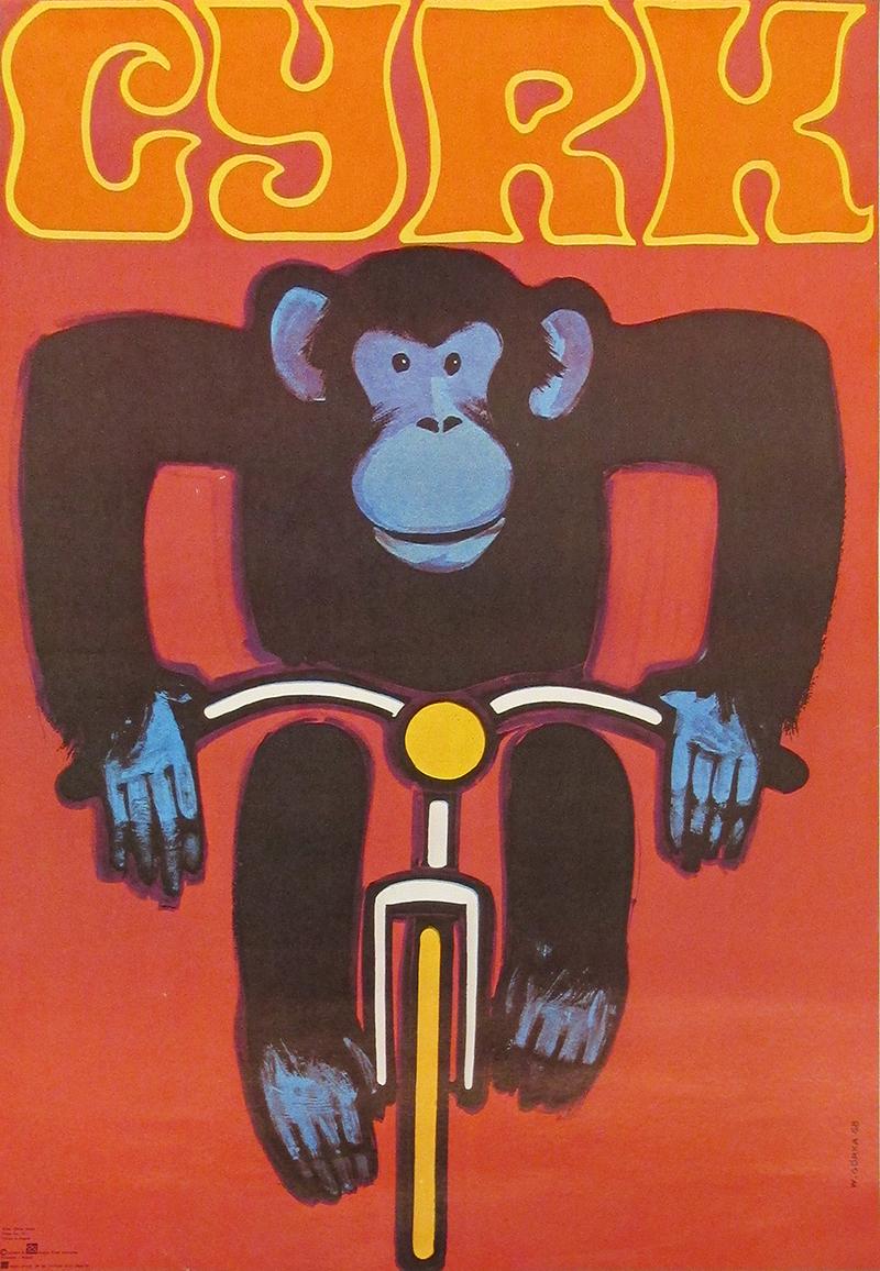 Monkey on bike / Curious George (2nd printing)