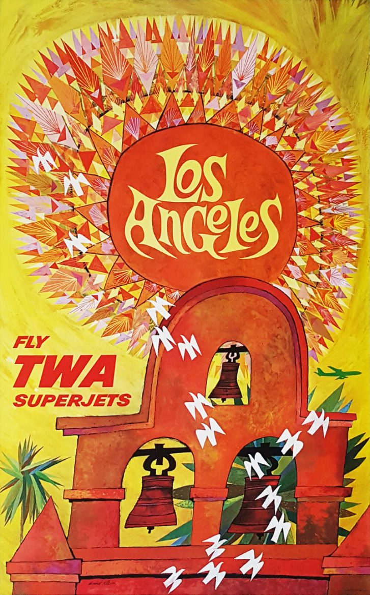 Image of TWA - Los Angeles - Travel Poster - WG00811