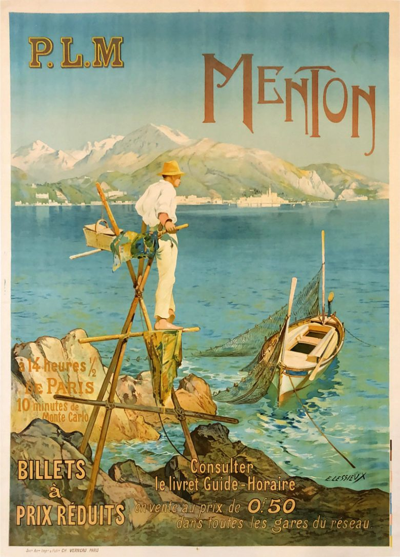 Image of PLM - Menton - French rail tourism poster - RD00001